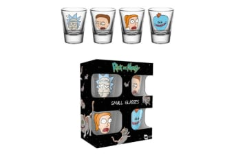 Rick And Morty Official Shot Glasses (Pack Of 4) (Clear)