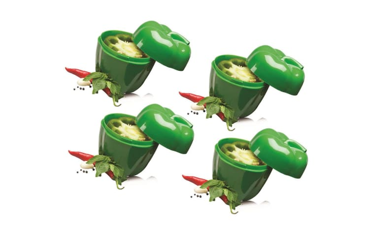 4pc Avanti Capsicum Saver Fresh Food Vegetables Fruits Home Kitchen Tool Green