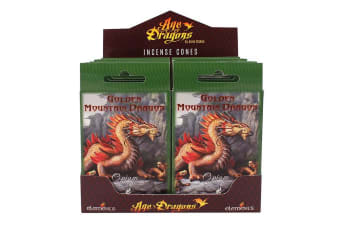 Age Of Dragons Golden Mountain Dragon Incense Cones (12 Packs Of 15) (Green)
