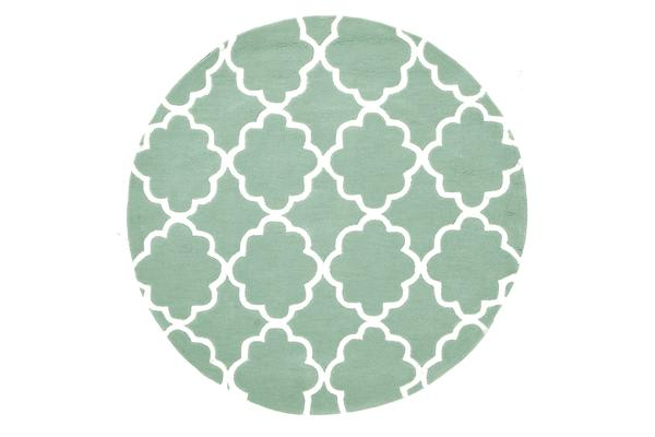 Kids Trellis Design Rug Sea Foam Green 150x150cm
