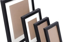 26 Piece Photo Frames Set Wall (Black)