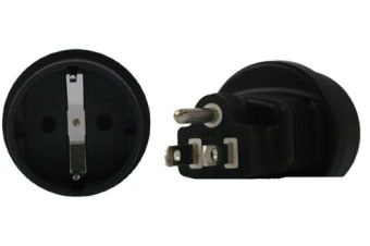 InLine Schuko to US 3 Pin Plug Adapter