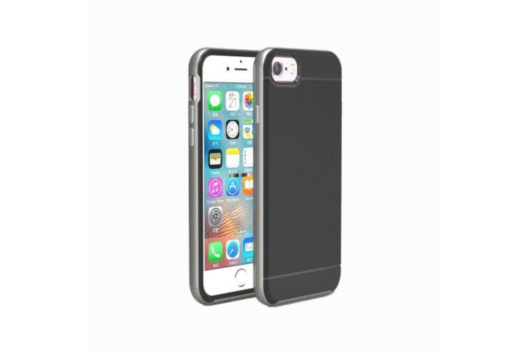 For iPhone 8 7 Case Strong Separable Armour Durable  Protective Cover Grey