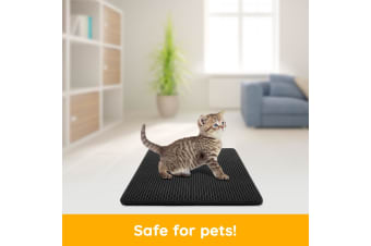 New Cat Litter Mat Cat Kitty Litter Trapper Catcher Sifting Pad W/ Double-Layer