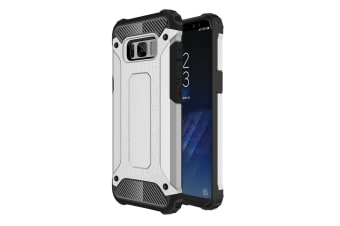 For Samsung Galaxy S8 PLUS Case Elegant Strong Armour Protective Cover Silver