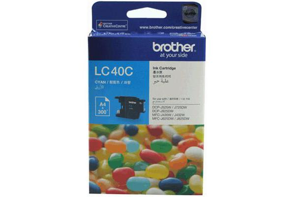 Brother LC-40C Cyan Ink Cart 300 Pages