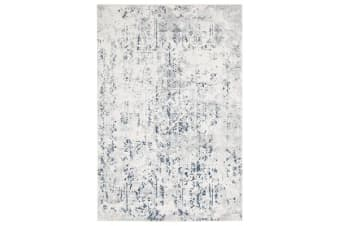 Farah Distressed Contemporary Rug White Blue Grey 230X160cm