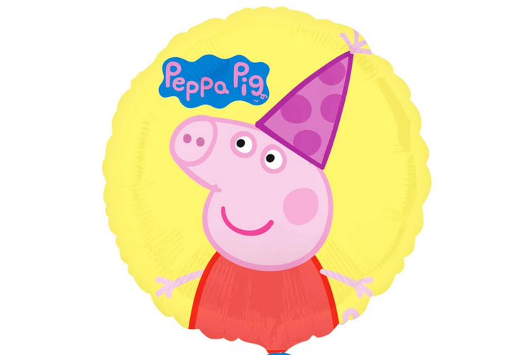 Anagram Peppa Pig 18 Inch Circle Foil Balloon (Multicoloured) (One Size)