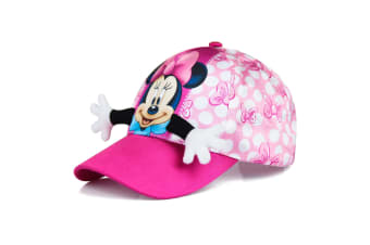 Minnie Mouse Childrens/Girls Hug Baseball Cap (Pink)
