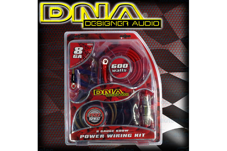 DNA 600W CAR AUDIO 2 4 CHANNEL POWER AMPLIFIER AMP 8 GAUGE WIRING KIT CABLE AK80