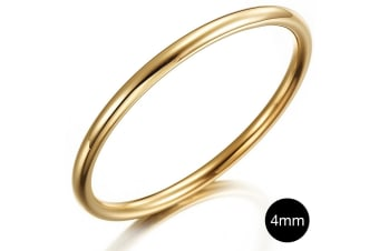 Solid Golf Bangle 4mm Gold Layered-Gold