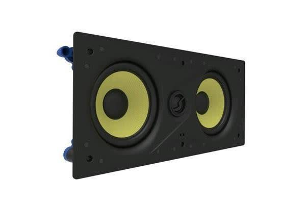 "LUMI AUDIO Dual 5.25"" 2-way IN-wall Frameless Speaker. RMS Power 60W Freq. Res 65Hz-20 KHz"
