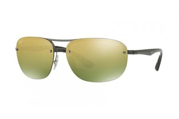 Ray-Ban RB4275CH 63mm - Shiny Grey (Green Gold Gradient Mirror Polarised lens) Unisex Sunglasses