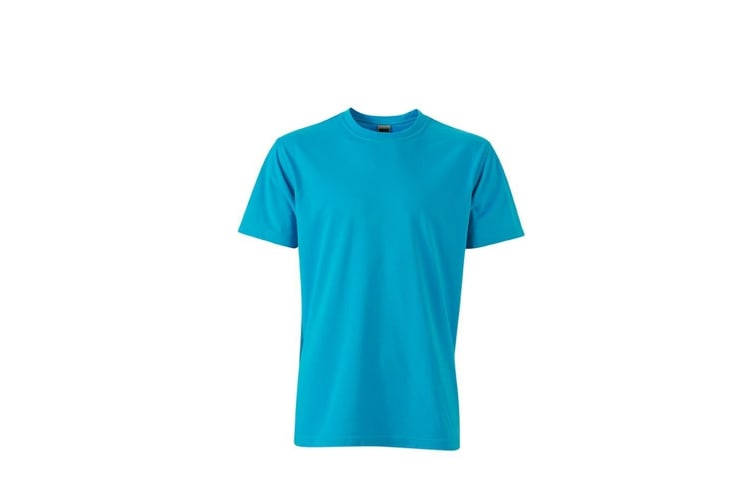 James and Nicholson Mens Workwear T-Shirt (Turquoise) (XXL)
