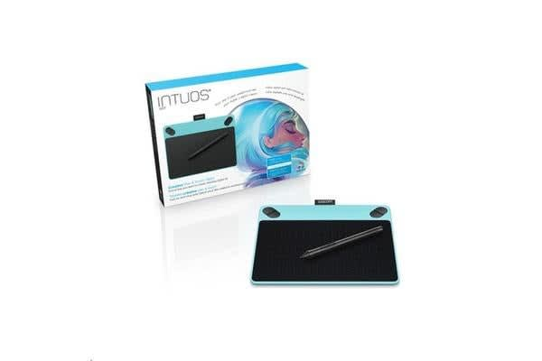 """Wacom Intuos CTH-490 Art Small Blue Creative Pen & Touch Tablet 3.7"""" x 6"""" with Art bundled software"""