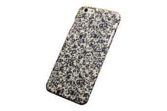 For iPhone 6S PLUS 6 PLUS Case Cute Flower-Pattern Fabric Protective Cover Blue