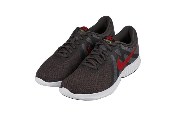 Nike Men's Revolution 4 Running Shoe (Grey/Black/White, Size 7 US)