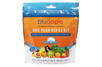 Bluapple Classic Fruit And Vegetable Life Extender 1 Year Refill Kit - 8 Packets