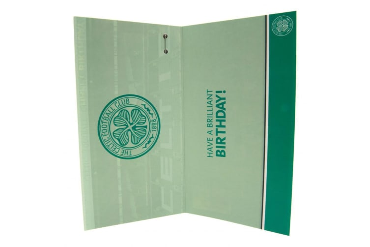 Celtic FC Birthday Card Huddle (Green/White) (One Size)