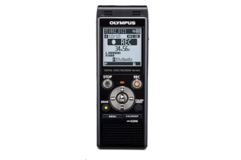 Olympus WS853 8GB Digital Voice Recorder Black USB - Micro SD Slot Dictation Machine Records in MP3