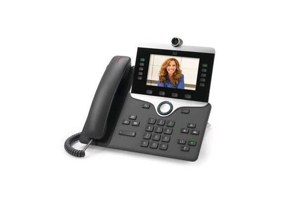"Cisco CP-8845-K9 IP Phone 8845 Charcoal 5"" WVGA 24-bit Colour Display 800 x 480 HD Video Up to 720p"