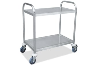 Two-layer Stainless Steel Kitchen Storage Trolley