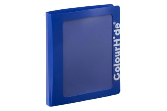 ColourHide A4 25mm Clearview Binder File/Paper Document Storage Organiser Blue
