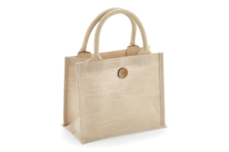 Westford Mill Juco Mini Gift Bag (Pack of 2) (Natural) (One Size)