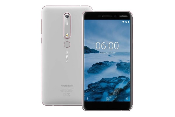 Nokia 6 2018 (64GB, White/Iron)