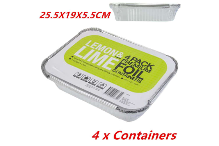 4 x Aluminium Foil Tray Disposable Takeaway BBQ Foil Trays food Container Restaurant