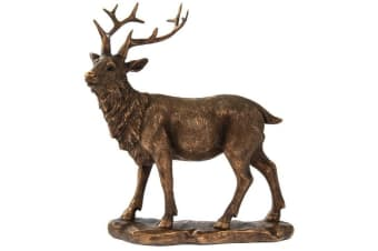 Reflections Bronzed Stag Ornament (Bronze) (One Size)