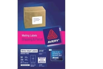 AVERY INKJET LABELJ8169-50 50 SHEETS
