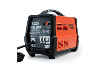 ROSSI 185Amp MIG ARC MAG Gas Gasless Welder AC Welding Machine Inverter Tool