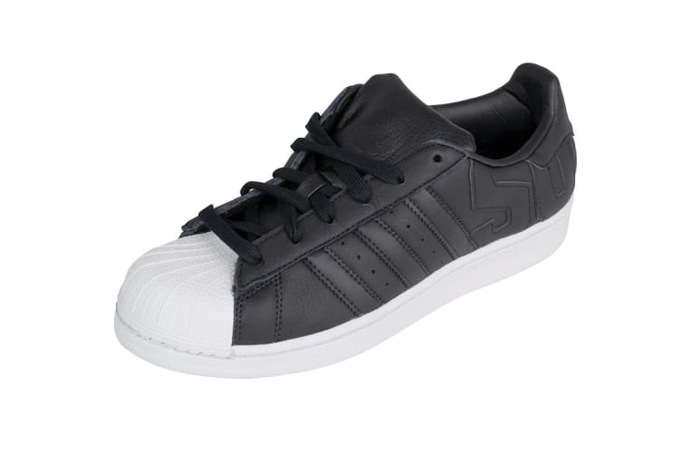 Adidas Originals Men's Superstar Shoe (Core Black/Crystal White, Size 6.5)