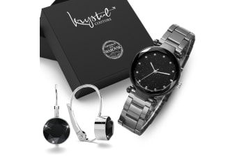 Boxed Gift Set WomenÕs Geomatic Mineral Glass Watch