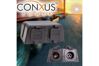 CONXUS DUAL CIGARETTE & ENGEL SOCKETS SURFACE DASH MOUNT TWO 2 12V VOLT DS-CE02