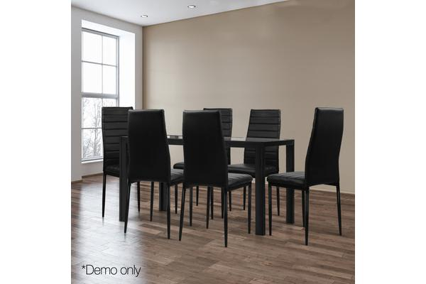 01c83ad4724c5 7-Piece Dining Table and Chairs Sets Black - Kogan.com