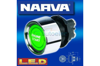 NARVA LED PUSH BUTTON IGNITION ENGINE STARTER SWITCH CAR BOAT START 60098BL