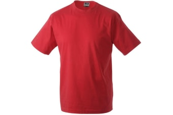 James and Nicholson Unisex Heavy Round Tee (Red) (M)