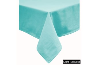 Cotton Blend Table Cloth 180cm x 180cm Square - LIGHT TURQUOISE