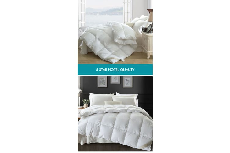 500/700GSM Duvet Doona Quilt Goose Down Feather Bedding Summer Winter All Season