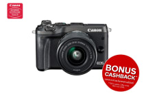 Canon EOS M6 Mirrorless Camera with EF-M15-45mm ST Lens - Black