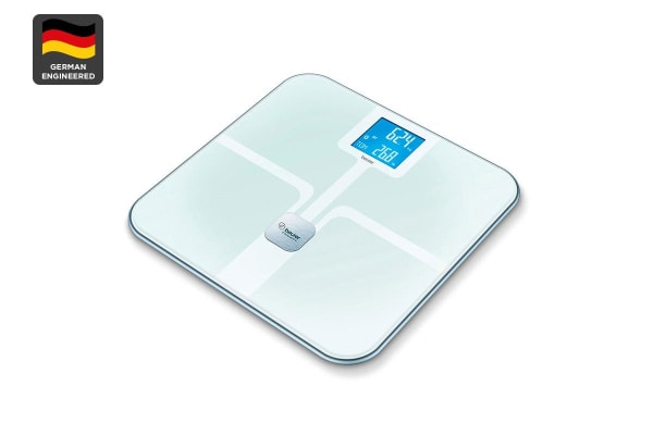 Beurer Bluetooth Diagnostic Bathroom Scale with ITO Coating - White (BF800)