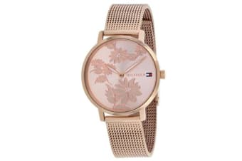 Tommy Hilfiger Women's Pippa Watch (Rose Gold Dial, Mesh Bracelet)