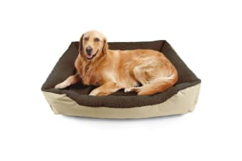 PaWz Pet Bed Mattress Dog Cat Pad Mat Cushion Soft Winter Warm XLarge Washable  -  BrownXL