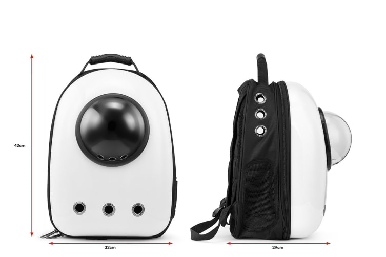 Pet Window Carrier Backpack (White)