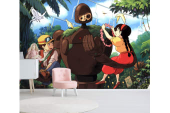 3D Castle In The Sky 005 Anime Wall Murals Woven paper (need glue), XXXXL 520cm x 290cm (WxH)(205''x114'')