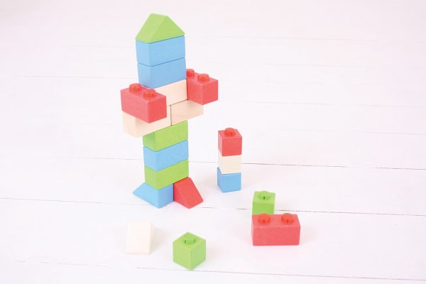 Bigjigs Click Blocks Primary Basic 20pcs