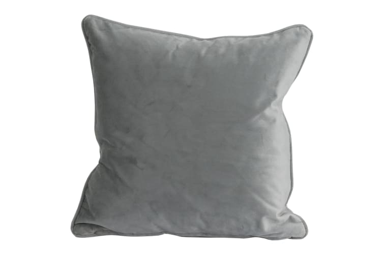 Hill Interiors Colourful Velvet Cushion (Grey) (One Size)