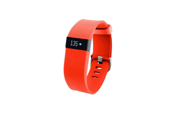 Fitbit Charge HR Heart Rate + Activity Wristband (Large, Tangerine)